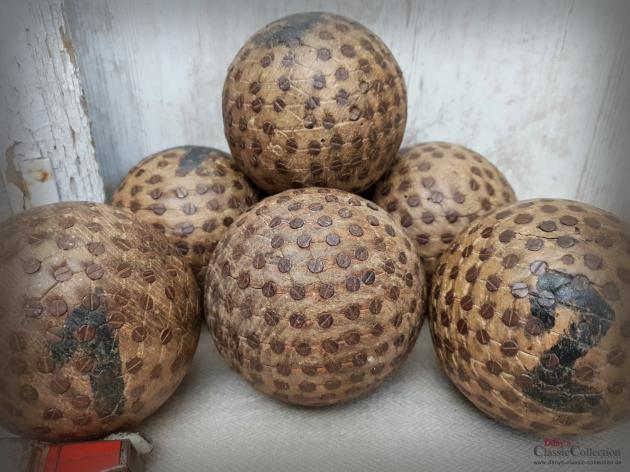 Antikes Boule Kugel SET ~ 6 Holz Kugeln geschraubt ~ Pétanque Kugel ~ französisches Kugelspiel ~ Provence ~ Frankreich ~ Boccia ~ hy6004