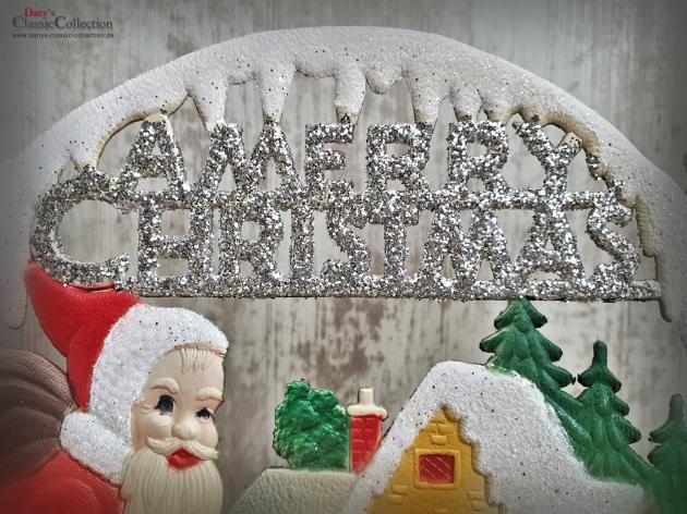 Dresdner Pappe geprägt ~ Nikolaus ~ Reh ~ Geschenke ~ Schlitten ~ A Merry Christmas ~ Vintage Weihnachtsdeko ~ Frohe Weihnachten ~ hy5074