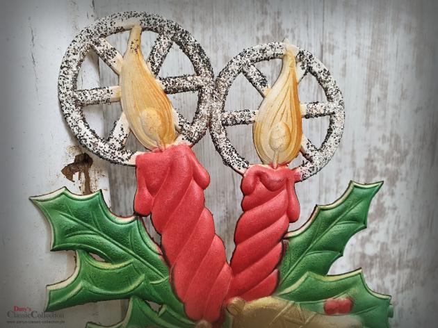 Dresdner Pappe geprägt ~ Glocken ~ Kerzen ~ Ilex ~ A Merry Christmas ~ Weihnachtsdeko ~ Frohe Weihnachten ~ Fensterdeko ~ hw3892kg