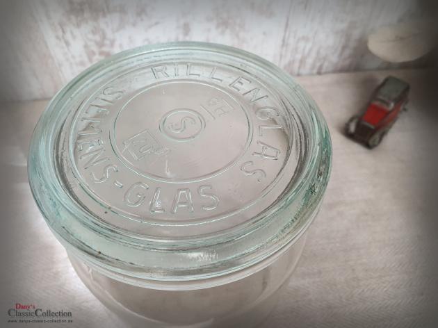 Einmachglas 1 L ~ Windlicht ~ Vorratsglas ~ Rillenglas ~ Küchendeko ~ Tischdeko ~ Vase ~ Vintage ~ Landhaus ~ Bauernhaus ~ ht2675g2