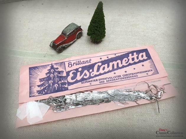 2x Eis-Lametta ~ OVP unbenutzt ~ Brillant Lametta silber ~ Alter Baumbehang ~ Weihnachtsbaum ~ Original packed silver Tinsel ~ hx4866s2