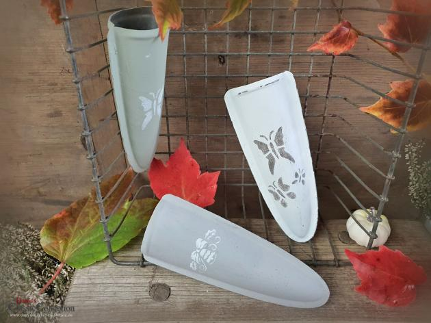 Kreidefarbe Vase aus Wetzsteinhalter ~ Kumpf ~ Vintage Home ~ Gartendeko ~ hs1656