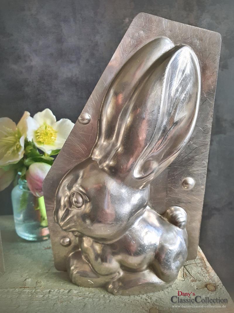 Langohr Hase 18 cm Schokoladenform ~ 2-teilige Gießform alt ~ Vintage Osterdeko ~ seltenes Sammlerstück ~ Frohe Ostern ~ hy6312
