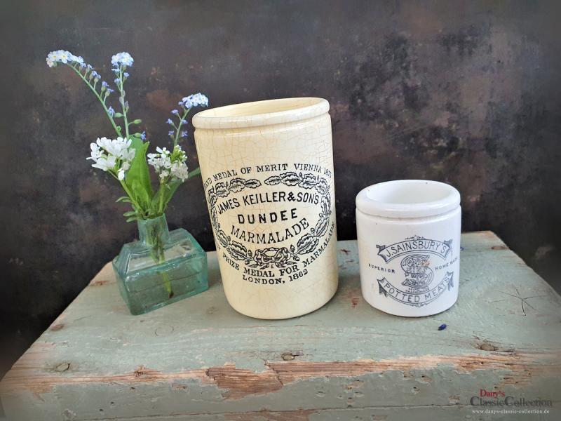 Keiller Dundee 1 lb ~ ORIGINAL antike Keramik ~ Aufbewahrung ~ Pottery ~ Steingut ~ Werbung ~ Steingut ~ Vintage Landhausküche ~ hw3072