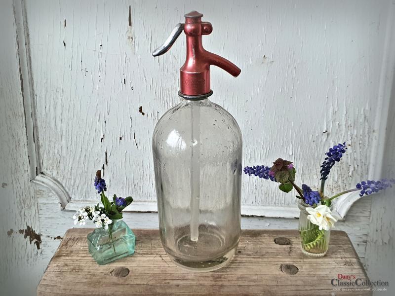 Siphon Soda ~ schwere Sodaflasche ~ Wasserspender ~ Deutsche Soda Zentrale ~ Kopf metallic ~ hw3222ro1