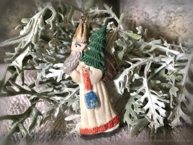 Weihnachtsmann Tragant Christbaumschmuck Nikolaus