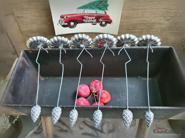 6 Pendelkerzenhalter ~ Baumkerzenhalter silber ~ Weihnachtsbaum ~ Weihnachten