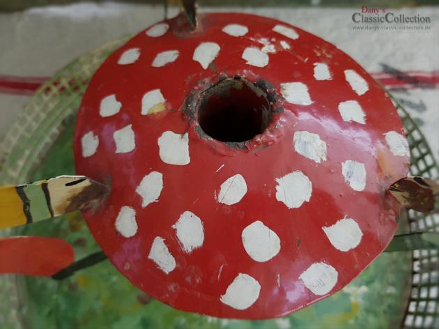 Böhmischer Christbaumständer mit 3 Wichteln, Weihnachtsbaumständer mit Zwergen, lackiert, Weihnachten, Weihnachtsbaum