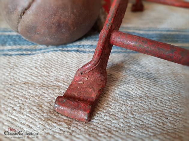 Kinder-Klappstuhl ~ orange-roter Metallstuhl ~ Vintage Deko ~ Shabby Chic ~ Gartenndeko