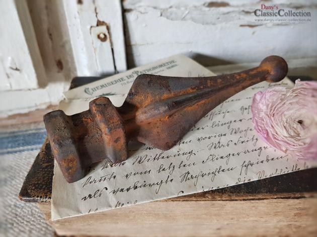 Zaunspitze 16,5 cm rostig ~ alter Zaunaufsatz ~ Shabby Dekoration ~ Brocante ~ Gartendeko