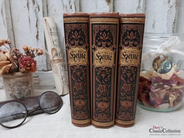 Dekorative Bücher dekorative bücher ~ heinrich heine ~ gebundene ausgabe ~ einband