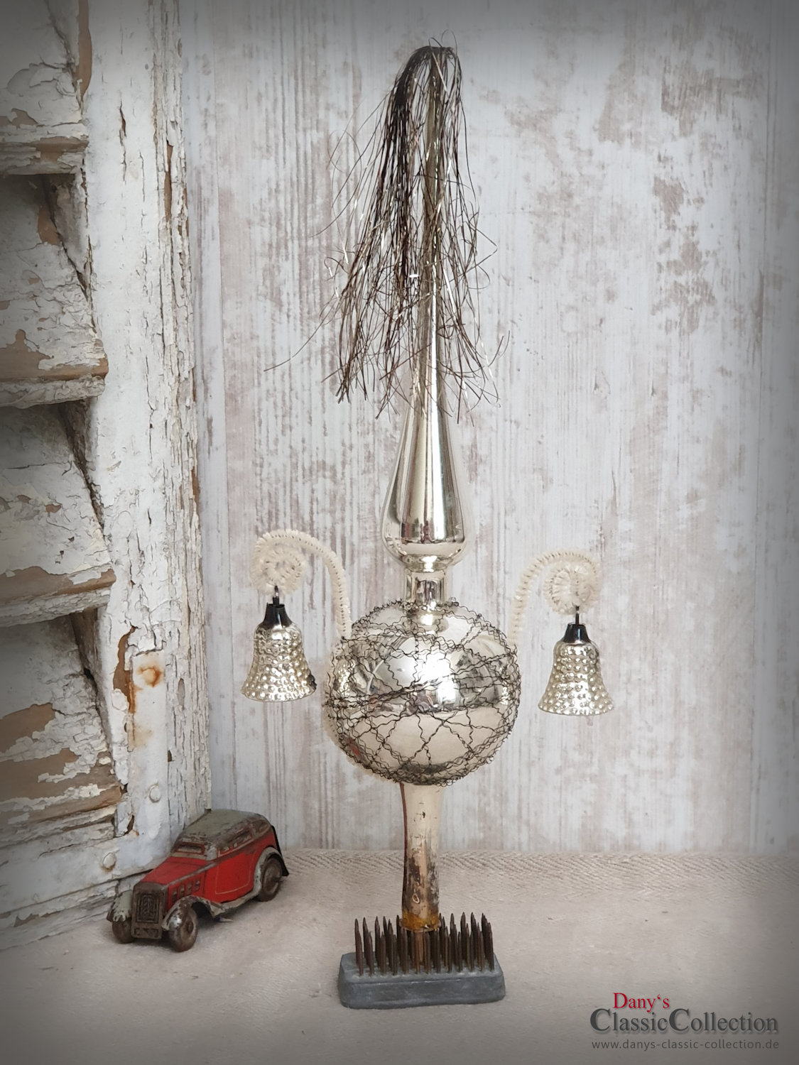 Car Christmas Tree Topper.Ancient Silver Christmas Tree Topper 11