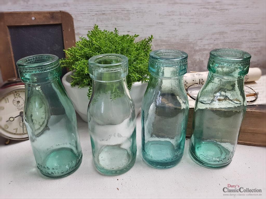 Dickwandige alte milchflaschen hellgr nes pressglas Antike weihnachtsdeko