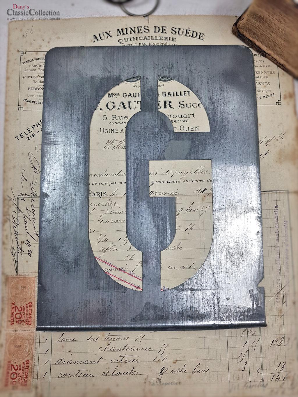 S - Z ~ large zinc letter stencils ~ zinc monograms ~ vintage metal home  decor ~ industrial design