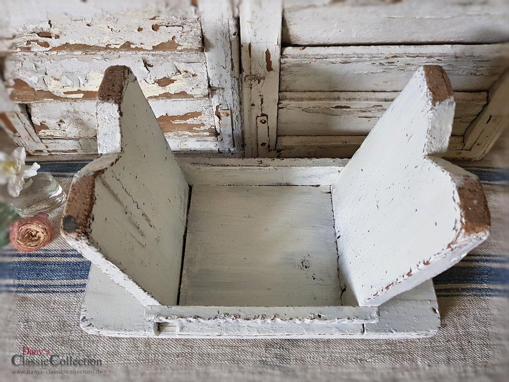 stabiler hocker shabby wei tritt beistelltisch vintage shabby chic. Black Bedroom Furniture Sets. Home Design Ideas
