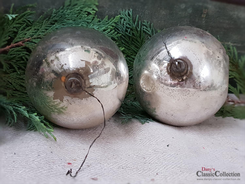Christbaumkugeln Reflexkugeln.2 Silberne Xl Einstich Christbaumkugeln Reflexkugeln Vintage Weihnachtsbaum Weihnachtsschmuck Nostalgische Weihnachten